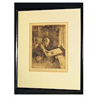 Portrait of C.M. Loeffler by Frank Benson 1919