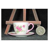 Miniature Shelley Potteries Bridal Rose Cup & Saucer