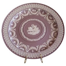 Museum Quality Modern Wedgwood Solid Lilac Trophy Plate
