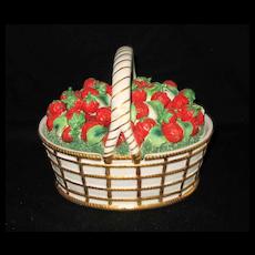 Vintage Mottahedeh Designed Porcelain; A Basket of Strawberries