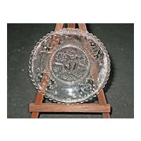 LR 440 Hearts Cup Plate by the Boston & Sandwich Glass Co