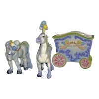 California Pottery Circus Wagon Horses by Freeman Leidy