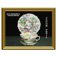 Striking Cup & Saucer crafted by Jacob Pettit, Old Paris, circa Mid-19th Century
