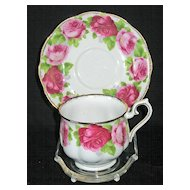 "Royal Albert ""Old English Rose"" Cup & Saucer"