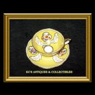 Paragon Fine Bone China (England) Cup & Saucer in a yellow glaze made for William Junor (Toronto, Canada)