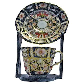 Royal Crown Derby Bone China Cup & Saucer Imari Pattern #2451