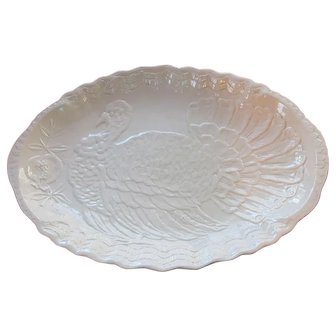Oval Turkey Platter; Colossal (26 x 18) pure white porcelain from Italy