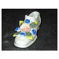 Miniature Porcelain Shoe from Japan
