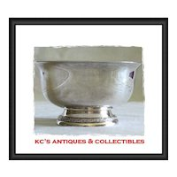 "Sterling silver small footed bowl by International Silver Co.  Pattern ""Prelude""; Y91"
