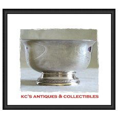 """Sterling silver small footed bowl by International Silver Co.  Pattern """"Prelude""""; Y91"""