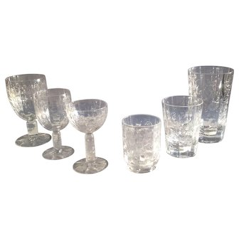 Ninety Nine Piece Set of Antique Crystal Glassware made by Stevens & Williams