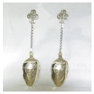 Two Large Silver plated Berry Spoons; James Dixon & Sons