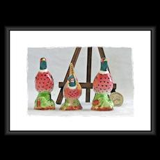 Vintage Pheasant Salt & Pepper Shakers Import by Enesco