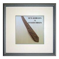 Vintage Gold Silk Brocade Tie