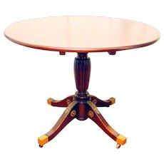 19th Century Empire Mahogany Tilt Top Center /Breakfast Table