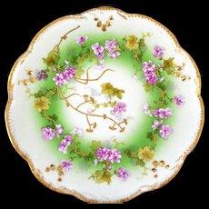 ANTIQUE A. Klingenberg & Charles L. Dwenger Limoges Hand Painted Cabinet Plate