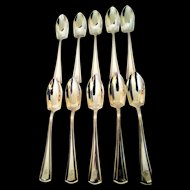 Alvin Silver Plate Fruit Spoons 10