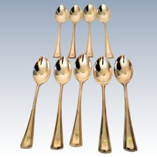 Alvin Silver Plate Sorbet Intermezzo Spoons 8