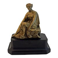 Antique Clock Topper Grecian Lady Spelter Sculpture