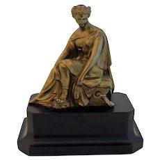 Antique Clock Topper Grecian Lady Spelter Sculpture