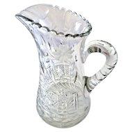 Antique Cut Glass Crystal Pitcher