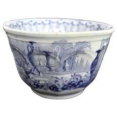 Antique Davenport Mantila Waste Bowl Blue Transfer Ware 1856