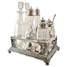 Antique Pairpoint Quadruple Plate Castor Condiment Set