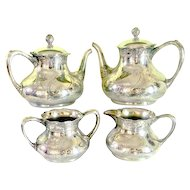 Antique Pairpoint Quadruple Silver-plated Tea /Coffee Set 4 Pcs.