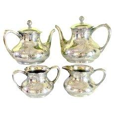 Antique Pairpoint Quadruple Silver-plated Tea /Coffee Set 4 Pcs.