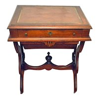 Antique Walnut Victorian Sewing/Work Stand Desk 1875