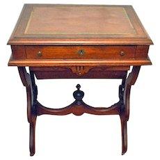 Antique Walnut Victorian Sewing/Work Stand Desk 1875