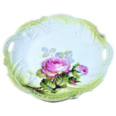 Bavaria Lusterware Open Handles Cake Dish