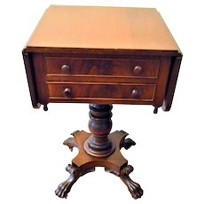 Biggs Empire Style Work Table Flame Mahogany