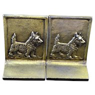 Bookends Bradley & Hubbard Cast Iron Scottish Terrier Dog