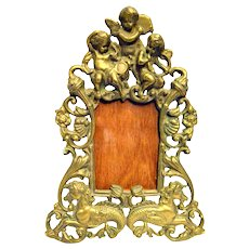 Brass Picture Frame Musical Cherubs, Angels and Sea Horses