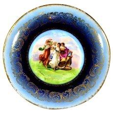 """Cabinet Plate Victoria Austria Carlsbad -  Artist Karl Kaufmann 11 ½"""""""