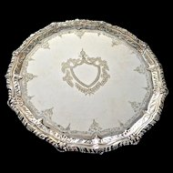 Henry Barnascone & Son English Silver Plated Cake Dish