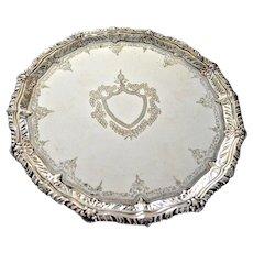 Henry Barnascone & Son English Silver Plated Cake Dish