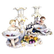 Carl Thieme Dresden Pair of Candles Holders