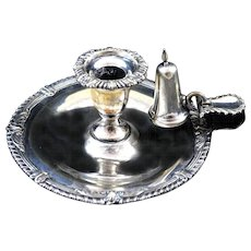 Victorian  Silver Plated Candle Holder, Chamberstick