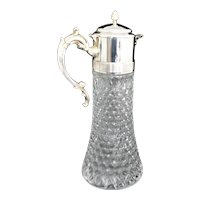Silver Plated Claret, Decanter, Crystal Pitcher with Ice Cylinder by Leonard Italy