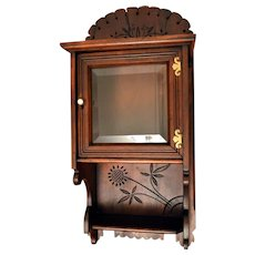 Eastlake Wall Cabinet with Beveled Glass Door