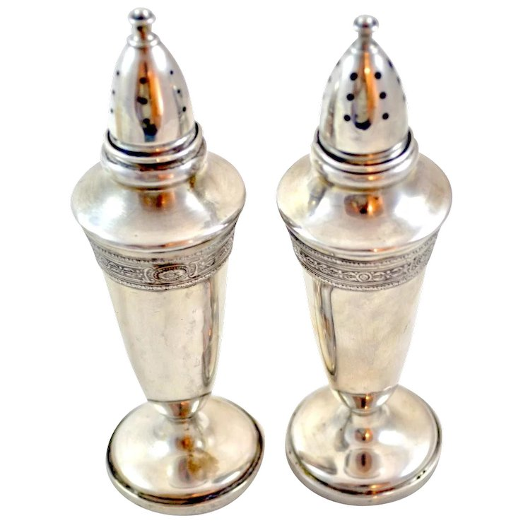 Fisher 465 Sterling Silver Salt And Pepper Shakers The Front Porch