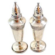 Fisher 465 Sterling Silver SALT and PEPPER SHAKERS