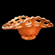 Fenton Nut Candy Marigold Carnival Glass Dish Bowl