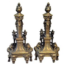 Antique French Andirons