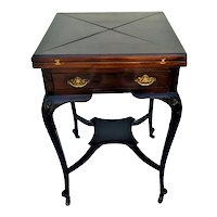 English Mahogany Envelope Games Table