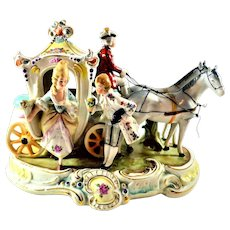 Vintage German Grafenthal Porcelain Carriage Figurine