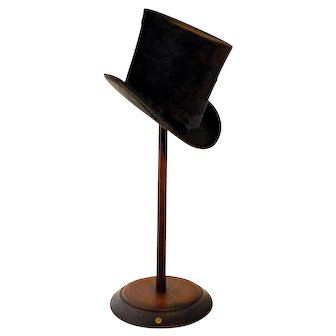 Antique 19th Century Millinery Shop Display Hat Stand