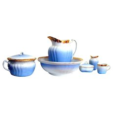 Ironstone Johnson Brothers Wash Bowl, Pitcher and accessories complete set